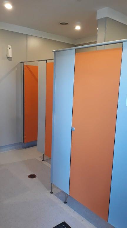 Underfloor heated Toilet and Shower block graphic