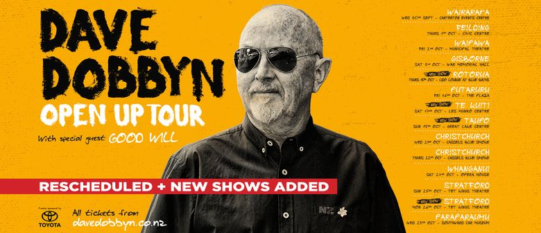 Dave Dobbyn- Open Up Tour graphic